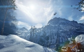 Picture winter, mountains, Battlefield 1