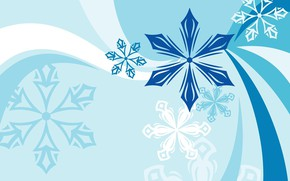 Picture Snowflakes, Background, Texture