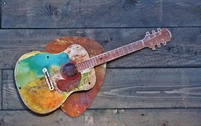 Picture background, wall, guitar