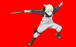 Picture red, sword, Naruto, anime, ken, blade, ninja, shinobi, ninjaken, The Yamanaka Ponje, japonese, Inojin, wakizashi, …