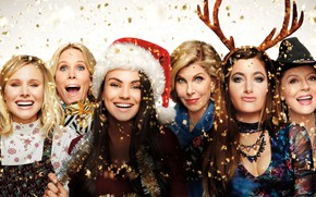 Wallpaper poster, Kristen Bell, confetti, tinsel, Cheryl Hines, Mila Kunis, Comedy, Susan Sarandon, smile, Mila Kunis, ...