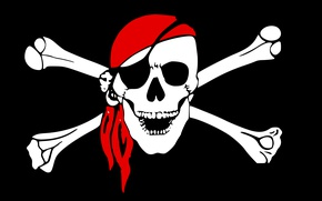 Picture Skull, Bones, Pirate Flag, Jolly Roger