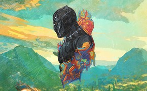 Picture Marvel, Africa, Black Panther, T`Challa, Wakanda