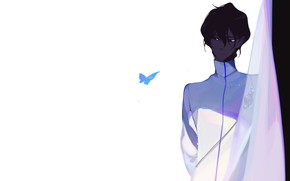 Picture butterfly, anime, art, guy, Archer, Fate stay night, Archer