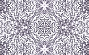 Picture flowers, texture, ornament, with, pattern, ethnic, floral, seamless, mandalas