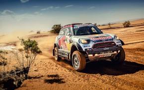 Wallpaper X-Raid, Speed, MINI John Cooper Works, Auto, Desert, X Raid, X-Raid Team, Machine, RedBull, Race, ...