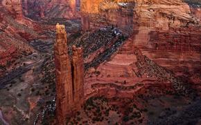 Picture nature, rock, post, AZ, USA, Canyon de Shay
