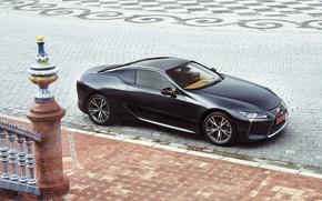 Picture black, Lexus, area, car, EU-spec, LC 500