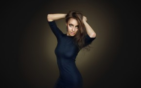Wallpaper Nastya, dress, Nastya, Dmitry Arhar, background, look