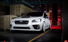 Picture Subaru, White, WRX STI, Vossen