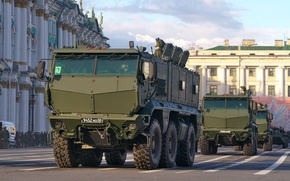 Picture parade, Russia, military equipment, Typhoon, universal, KAMAZ-63968, armored car, increased security of patency