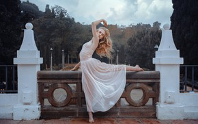 Picture face, pose, model, hair, dress, Palace, Emma