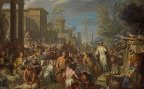 Picture tree, oil, picture, Jacques Ignatius de Roore, The Idolatry Of Jeroboam