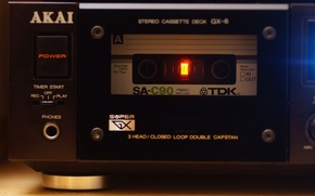 Picture cassette, stereo, AKAI GX-6, TDK SA-C90