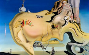 Picture erotic, surrealism, picture, Salvador Dali, Salvador Dali, The Face Of The Great Masturbator