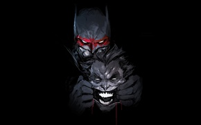 Wallpaper Batman, Joker, bat, hero, DC Comics, yuusha