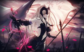 Picture girl, anime, art, fate/grand order