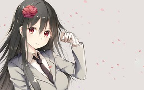 Picture grey, background, girl