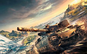Picture tank, World of Tanks, Key Art 2017, Playstation and Xbox Europe