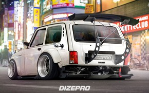 Wallpaper Car, Spoiler, DizePro, Auto, Signs, Tuning, Niva, Niva, Auto, The city, Tuning, Car