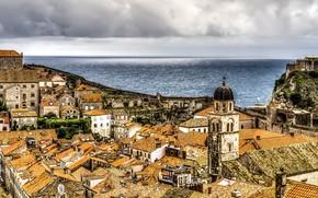 Picture sea, the city, Croatia, Dubrovnik