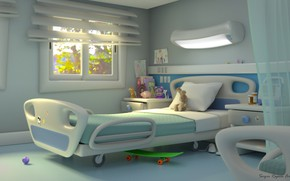 Picture toys, bed, the room, chamber, hospital