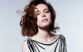 Picture background, portrait, makeup, dress, hairstyle, brown hair, beauty, photoshoot, It, 2017, Liz Collins, Daisy Ridley, …