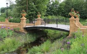 Picture Nature, Grass, Spring, Park, Nature, Grass, Bridge, Water, Park, Spring, The bridge