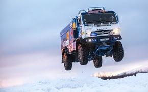 Picture Winter, Snow, Truck, Master, Russia, Kamaz, Rally, KAMAZ, Power, RedBull, Master, The Arctic