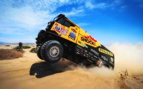 Picture Sand, Sport, Truck, Race, Rally, Dakar, Dakar, Rally, The roads, 510, LIAZ, LIAZ