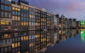 Picture water, reflection, building, home, Amsterdam, channel, Netherlands, Amsterdam, Netherlands