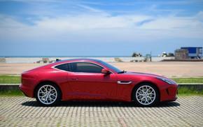 Picture red, design, style, Jaguar, Jaguar, side view