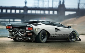 Wallpaper Yasid Oozeear, Yasid Design, auto, car, tuning, Lamborghini Countach, car, tuning