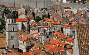 Picture roof, tower, home, Croatia, tile, Dubrovnik, the bell tower