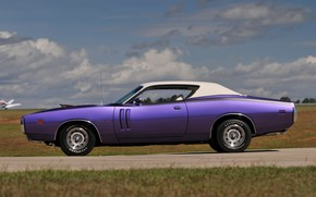 Wallpaper 1971, Purple, Dodge Charger, Muscle classic, Hemi Ramcharger WS23