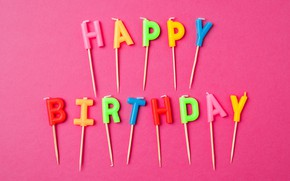 Picture candles, candles, letters, letters, Birthday, colorful, celebration, decoration, Happy Birthday