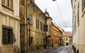 Picture street, home, lane, Croatia, Zagreb