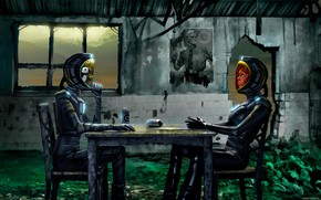 Picture table, poster, the room, Romantically Apocalyptic, communication