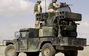 Picture military, army, american, US Army, missile, High Mobility Multipurpose Wheeled Vehicle, Stinger, military vehicle, Humvee, ...