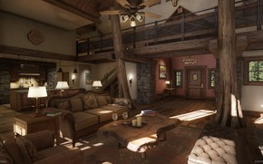Picture furniture, the room, entrance, daytime, Mountain Lodge