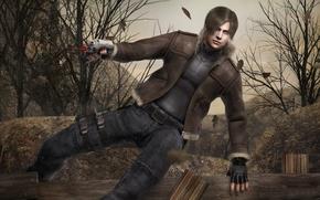 Picture gun, pistol, game, weapon, man, Spain, American, Leon, Biohazard, Resident Evil 4, Residen Evil, Biohazard …