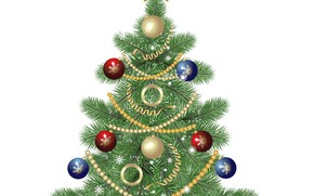 Picture decoration, white background, tree, vector graphics
