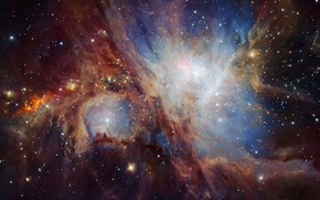 Wallpaper the universe, Nebula Orion, Chile, stars, The European extremely large telescope