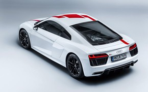 Picture supercar, Audi R8, rear view, 2018, V10, RWS
