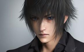 Picture hair, Prince, guy, Final Fantasy XV, night light sky