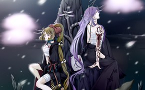Picture girl, art, guy, Vocaloid