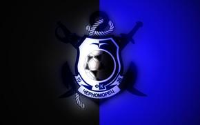 Picture Black, Blue, Sport, Logo, Football, Background, Logo, Club, Odessa, Chernomorets, Football Club, Black and blue