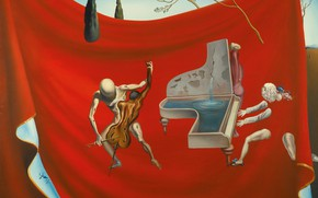 Picture surrealism, picture, Music, Salvador Dali, Salvador Dali, Gold Of The Seven Arts, Gold Red Chapel
