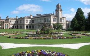Picture park, garden, mansion