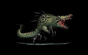 Picture sprite, attack, Crocodile, Darkest dungeon